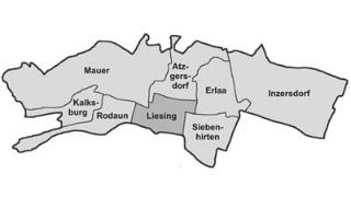 Umriss des 23. Bezirkes, Karte der acht Bezirksteile