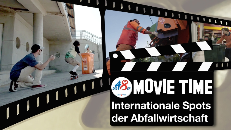 48er-Movie-Tima: Internationale Sports der Abfallwirtschaft am Wiener Rathausplatz
