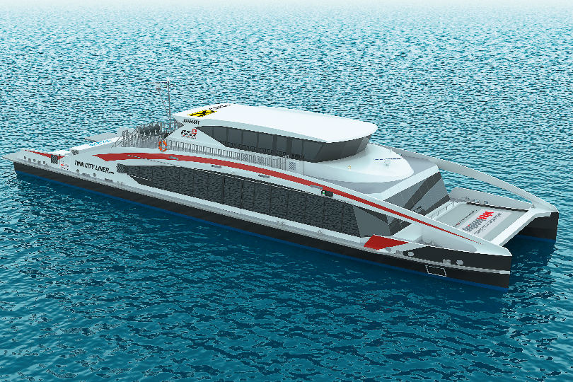 Rendering des neuen Twin City Liners