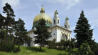 Otto Wagner's art nouveau church at Steinhof
