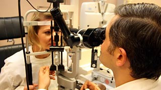 checkup at an ophthalmologist