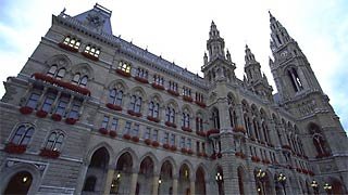 exterior view of the Vienna City Hall