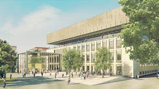 Computer rendering of the new Wien Museum