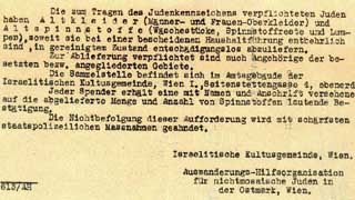 Order to the jewish community (1942)