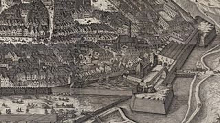 View of the city created by Jacob Hoefnagel (1609)
