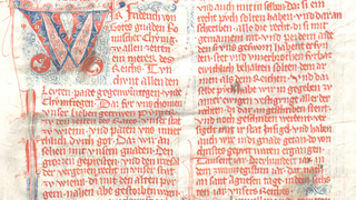 "Section of the city codex called ""Eisenbuch"" (14th century)"