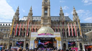 Big ESC event held front of the Vienna city hall