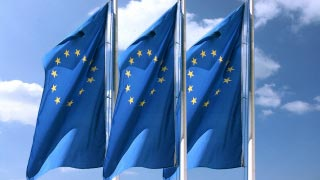 Three EU flags