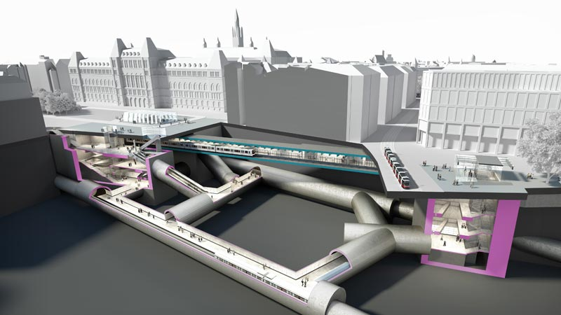 New Stations For Underground Lines U2 And U5