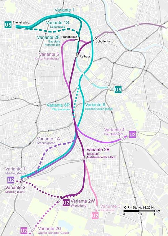 Variantenuntersuchung U Bahn Ausbau Von U2 Und U5