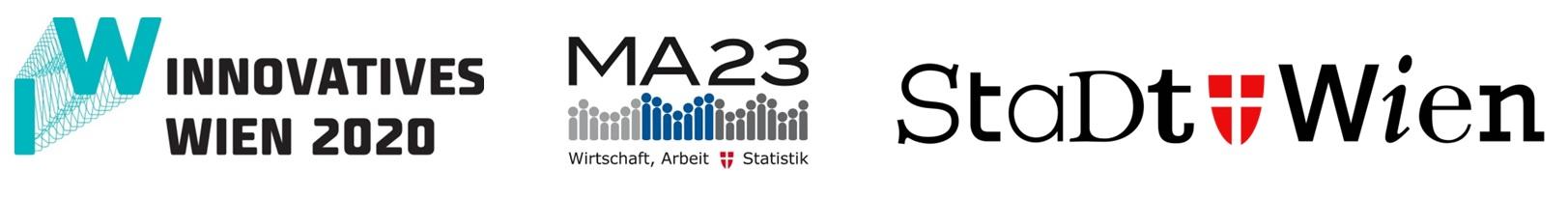 Logos Stadt Wien, MA 23 und innovatives Wien 2020