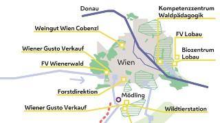 Karte Wien Niederosterreich.Wiens Quellenschutzwalder