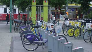 eine City-Bike-Station in Wien
