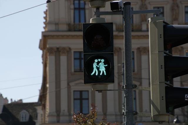 diversity themed traffic lights in vienna