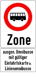traffic sign access restriction for buses (Image: Municipal Departments 46)