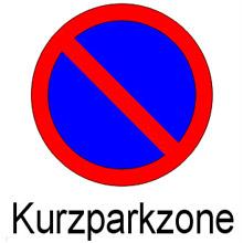 """Verkehrsschild """"Kurzparkzone Beginn"""""""