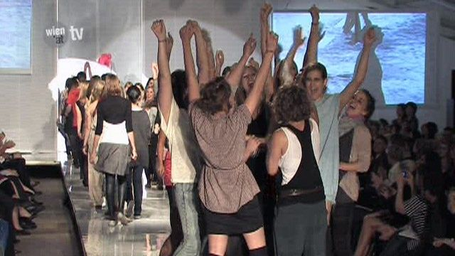 Abschlusspräsentation der Maturantinnen der Modeschule Hetzendorf