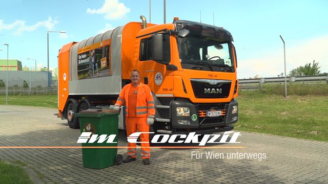 Im Cockpit - Müllwagen