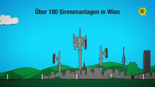 Sirenensignale in Wien