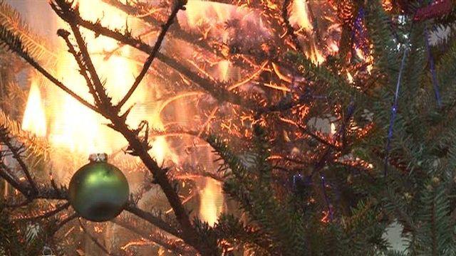 Brandgefahr bei Christbäumen