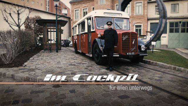 Im Cockpit - Oldtimer-Bus der Wiener Linien