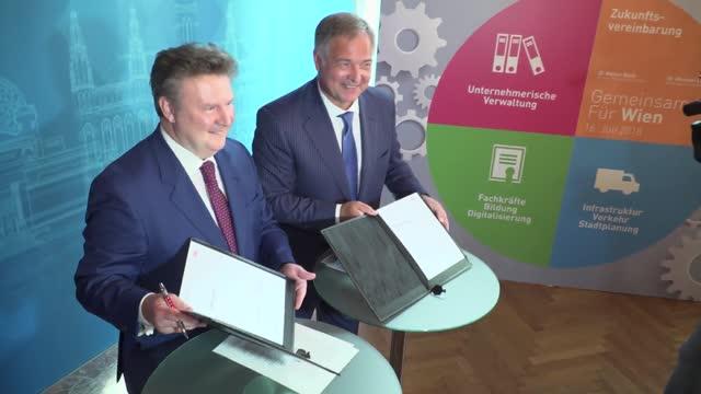 Zukunftsvereinbarung für Wien unterzeichnet
