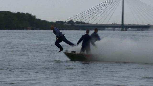 Einsatzübung auf der Donau