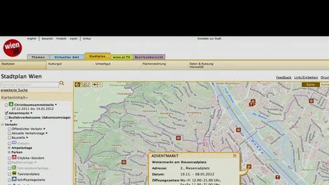 Neue Funktionen des virtuellen Stadtplans 2011