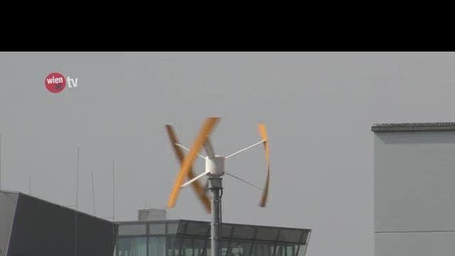 Wiens erstes Windrad auf einem Dach