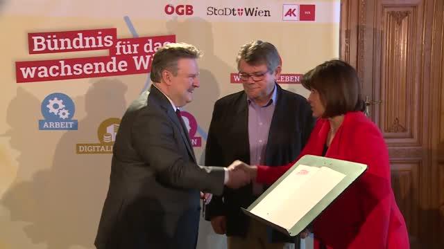 Wien schließt Bündnis mit AK und ÖGB