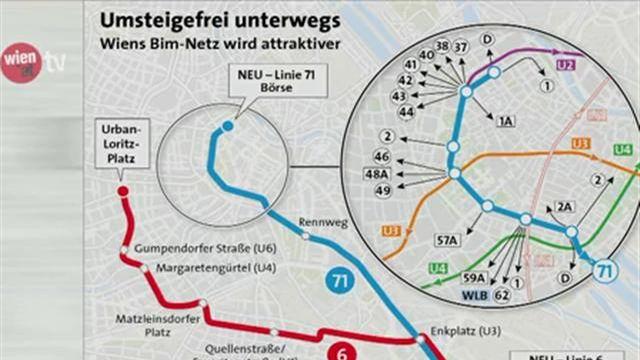 Neue Routen für Straßenbahnlinien 6 und 71