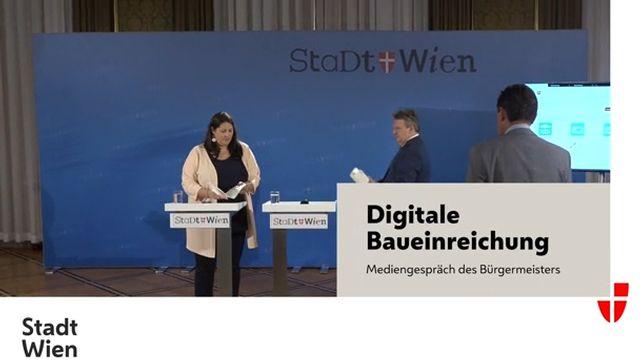 Präsentation der digitalen Baueinreichung