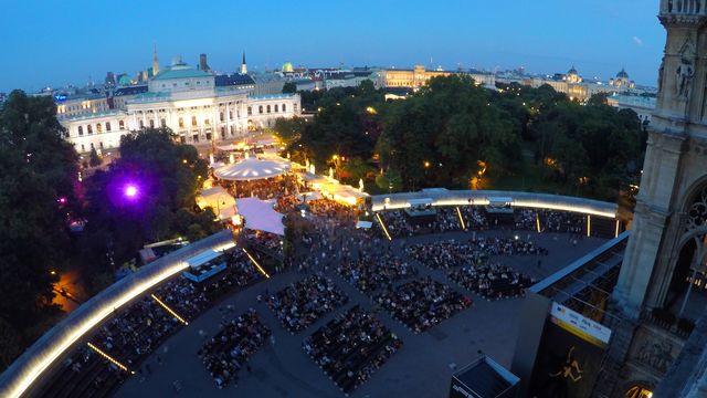 Filmfestival auf dem Wiener Rathausplatz