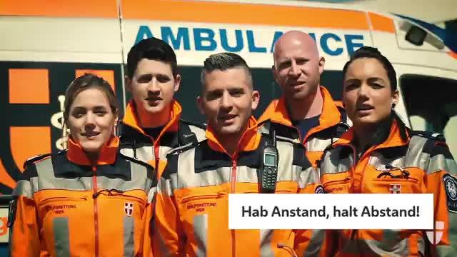 Berufsrettung Wien: Hab Anstand, halt Abstand!