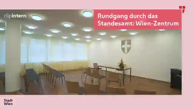 Rundgang durch das Standesamt: Wien-Zentrum
