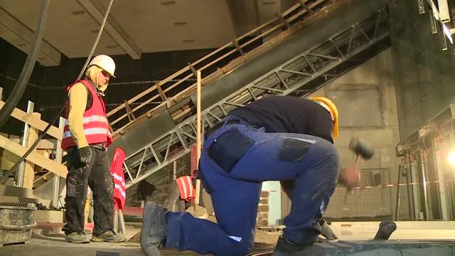 Baustelle: Besuch der neuen U1 Station