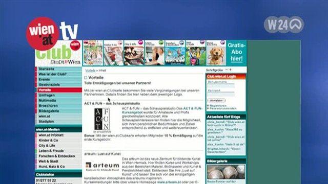 Neue Website für den Club wien.at 2007
